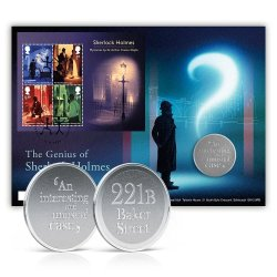 UK. Sherlock, set of FDC and booklet with special medal